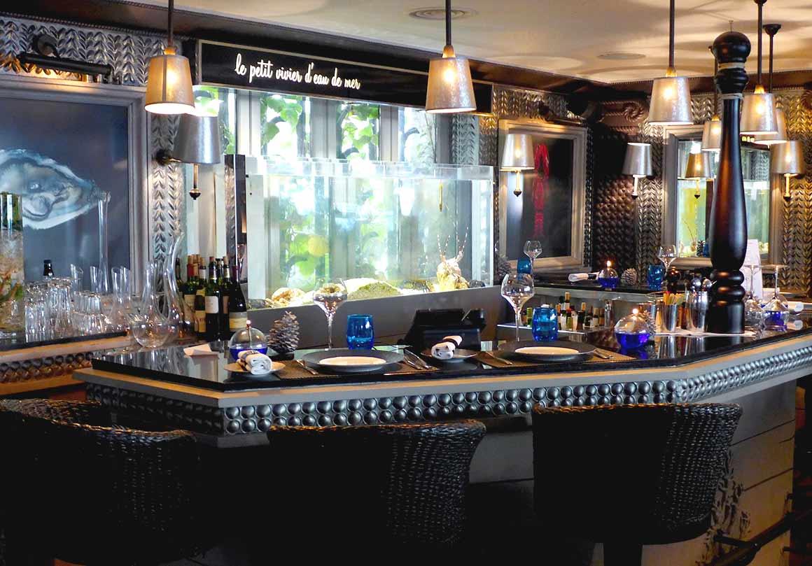 Le comptoir du Bar à Huitres