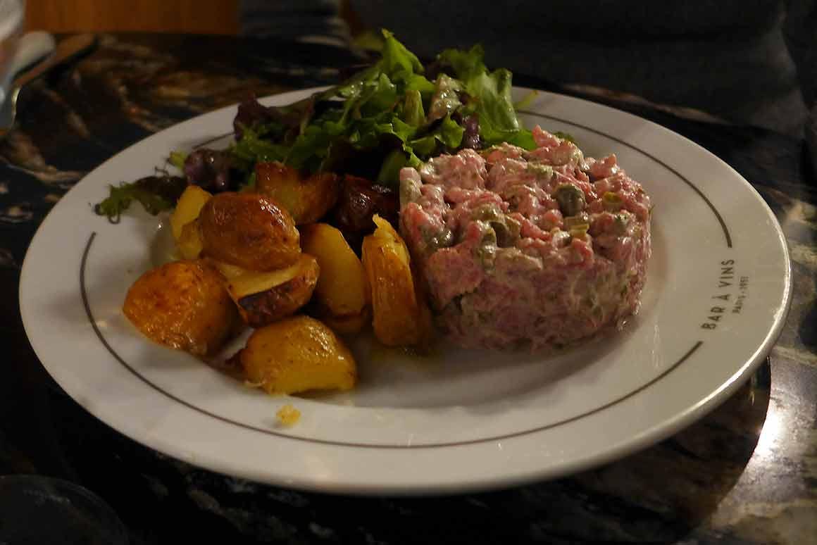 Restaurant L'Ecluse, tartare de saumon
