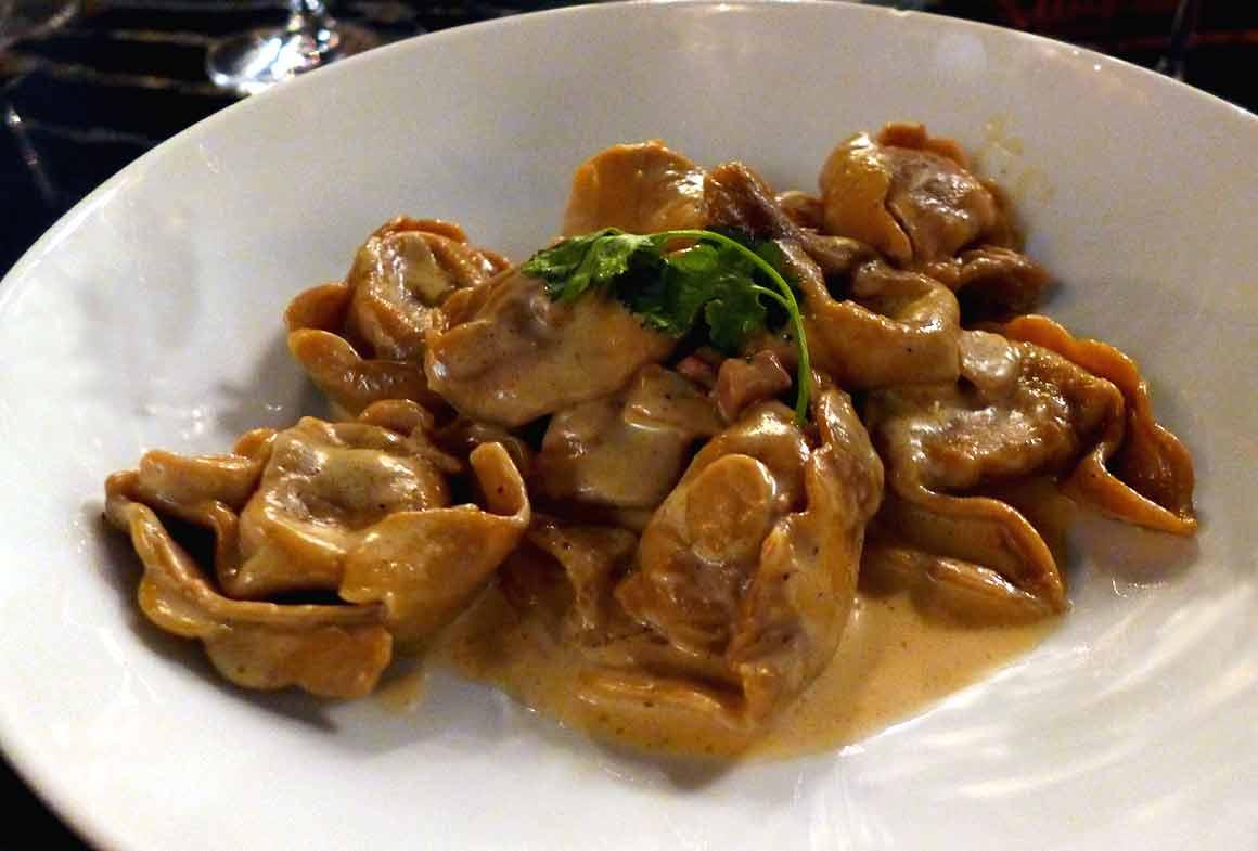 Restaurant L'Ecluse, tortellinis aux cèpes