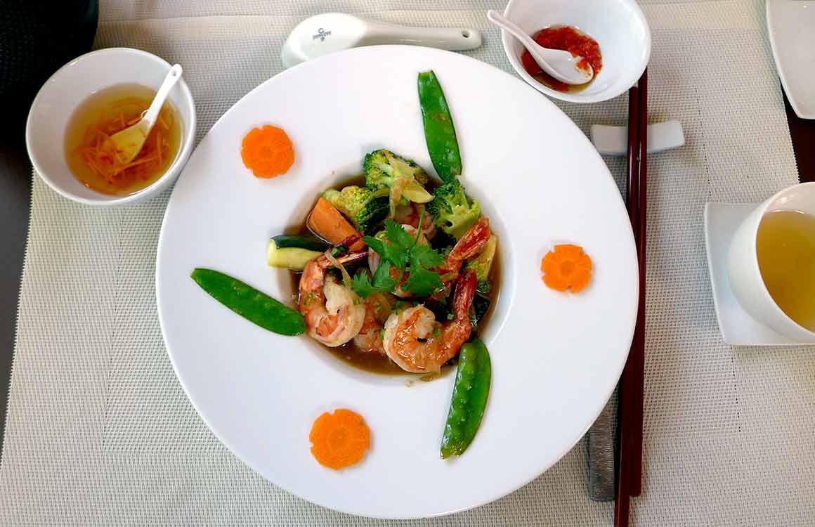 La Table du Vietnam, crevettes sautées