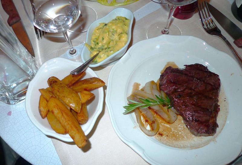 Restaurant Le Beef Club, filet de rumsteck