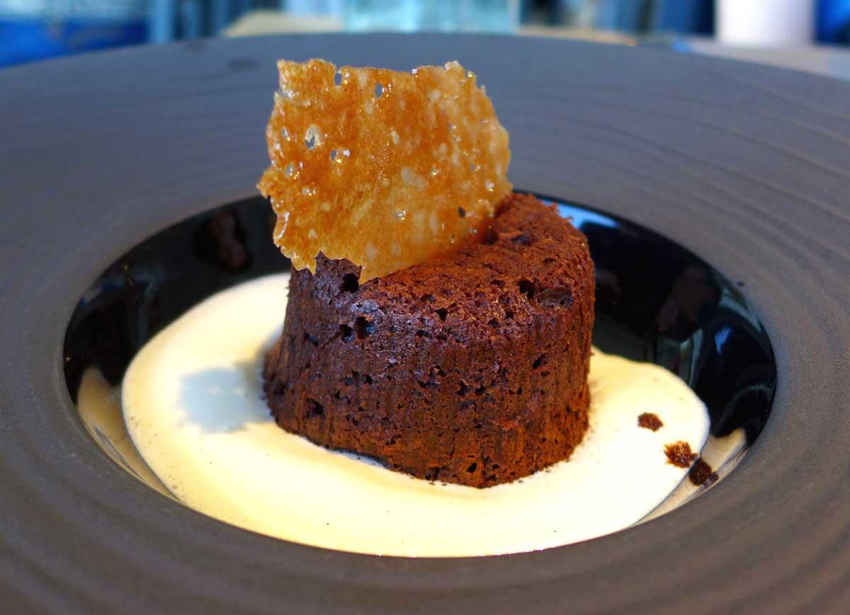 BISTROT DE L'OCEAN : Moelleux au chocolat et crème anglaise