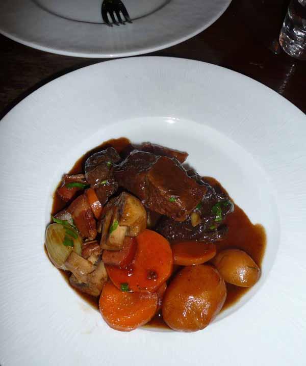 Restaurant Les Papilles, bœuf bourguignon