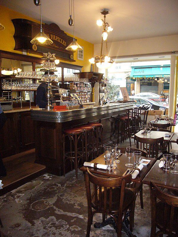 Restaurant Les Papilles, la salle