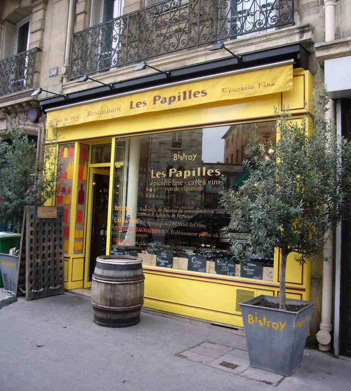 La façade du Bistroy Les Papilles