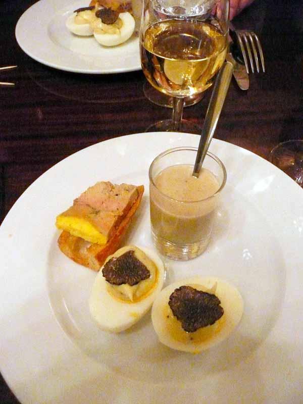 Bistrot Paul Bert, Foie gras œuf mayonnaise truffe