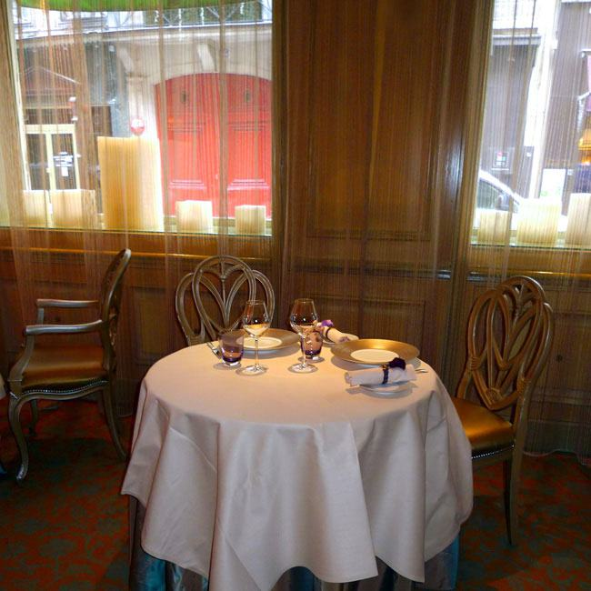 Restaurant Le Céladon, la salle