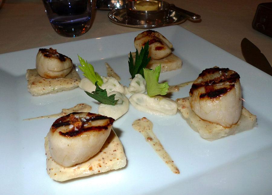 Restaurant Le Céladon, noix saint-jacques bretonnes