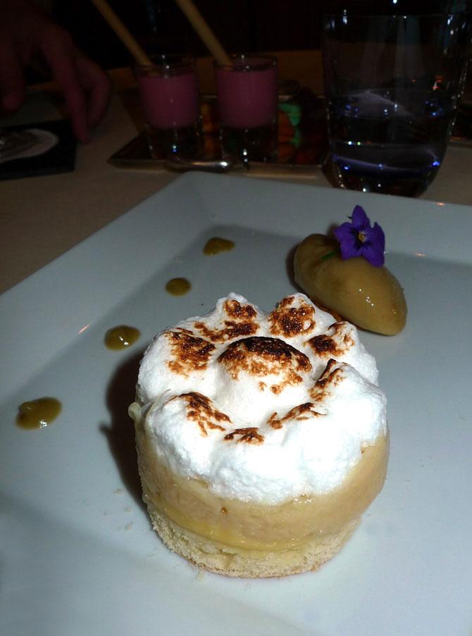 Restaurant Le Céladon, rhubarbe poêlé