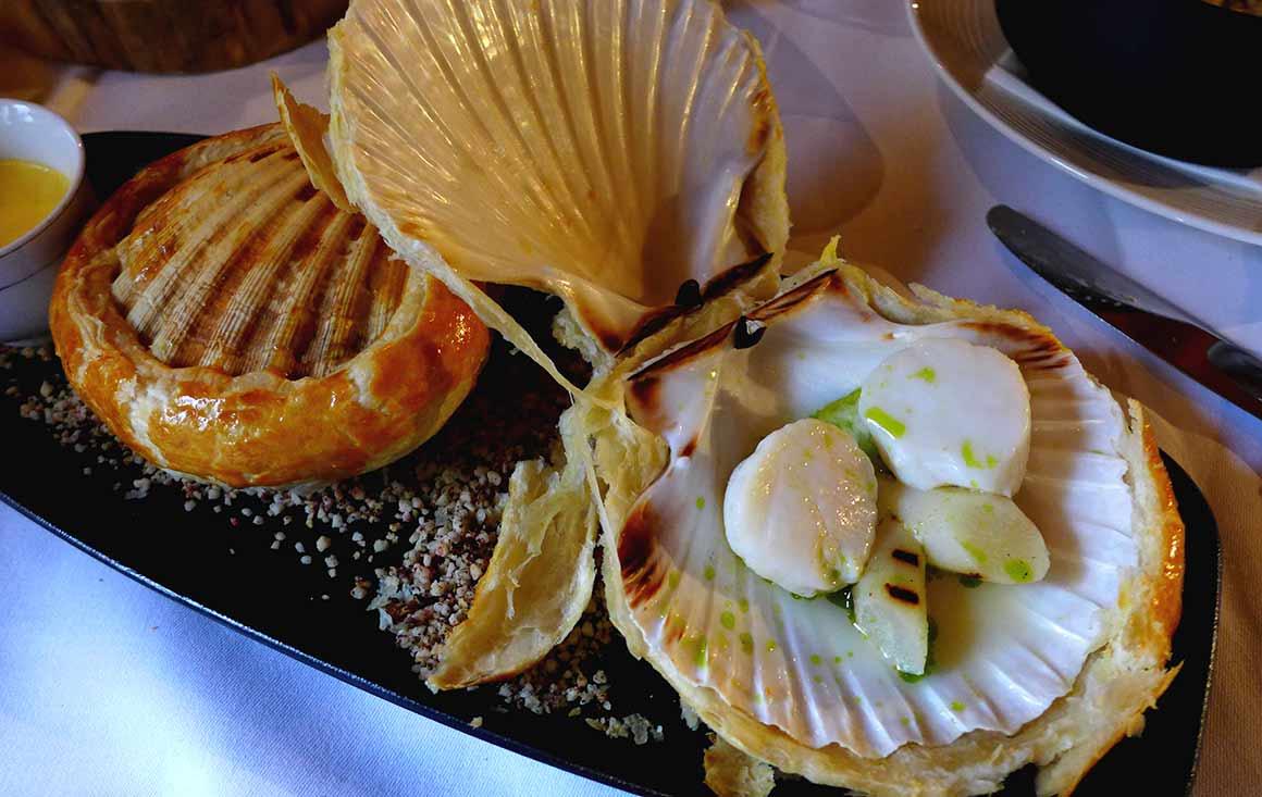 Restaurant Le Chalet, Coquilles Saint-Jacques lutées