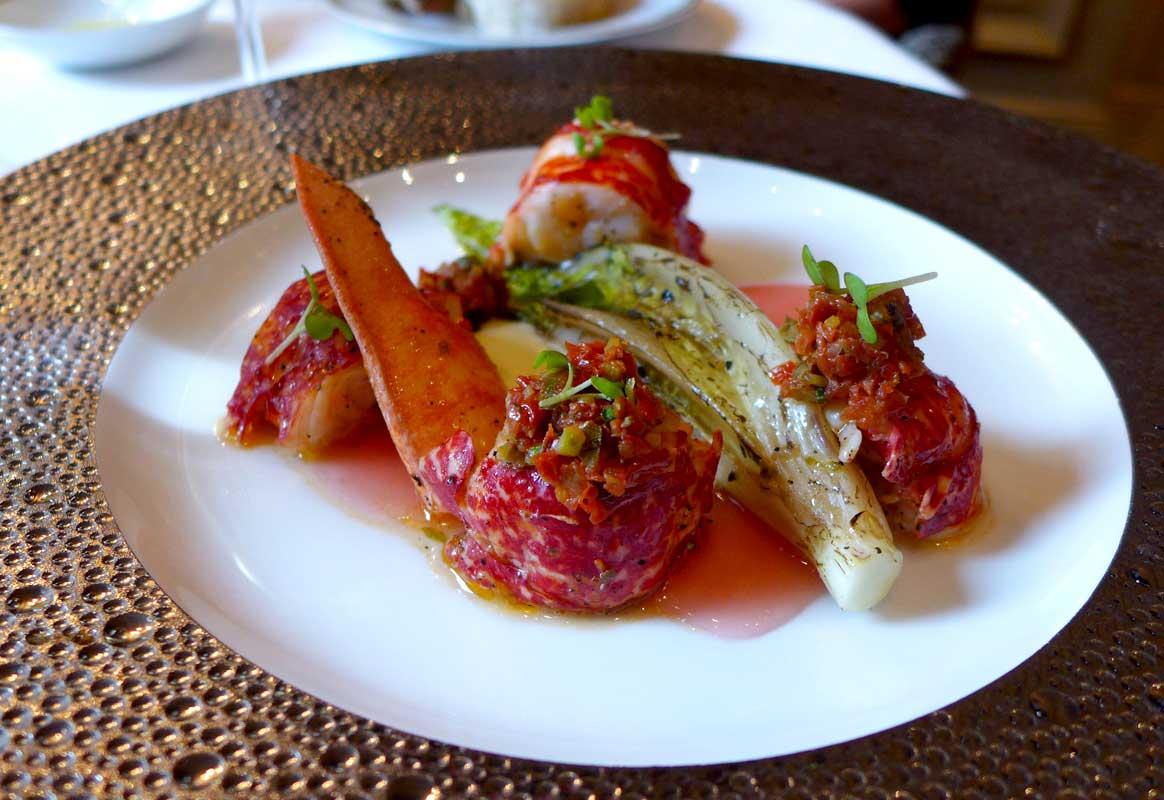 Restaurant Le Cinq: Salade de homard bleu rôti