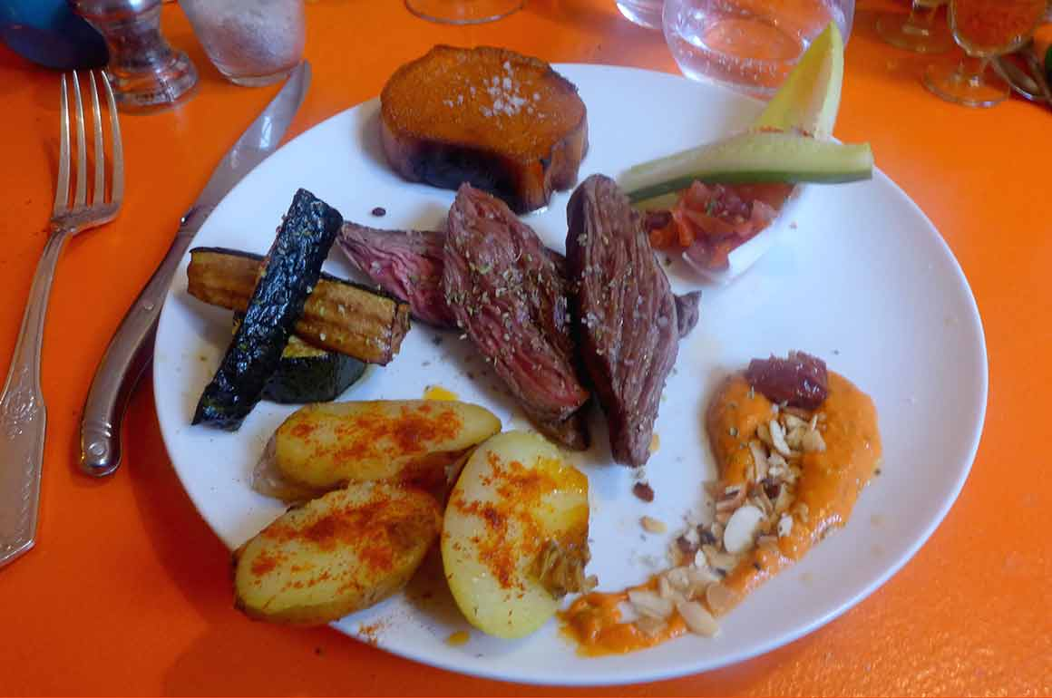Restaurant Comptoir Montevideo steak de Pulpon
