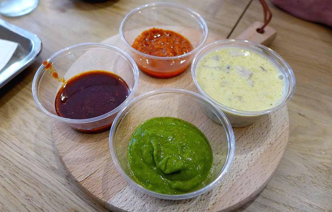 Restaurant Chez Jorge : Les sauces