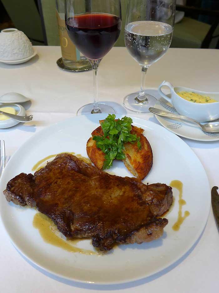 Restaurant Le Gaigne, faux-filet sauce béarnaise