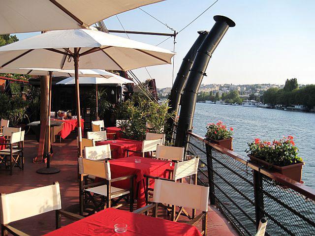 Restaurant Le Galion, vue sur la Seine