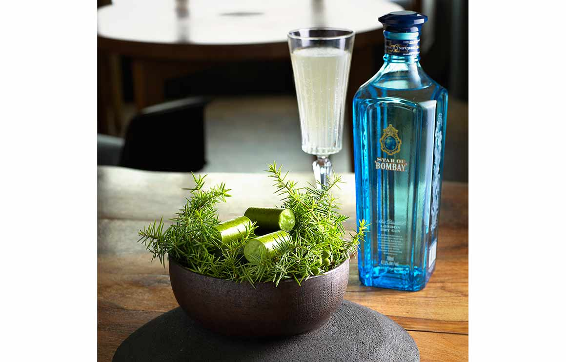 Restaurant DAVID TOUTAIN : Tube genévrier et cocktail