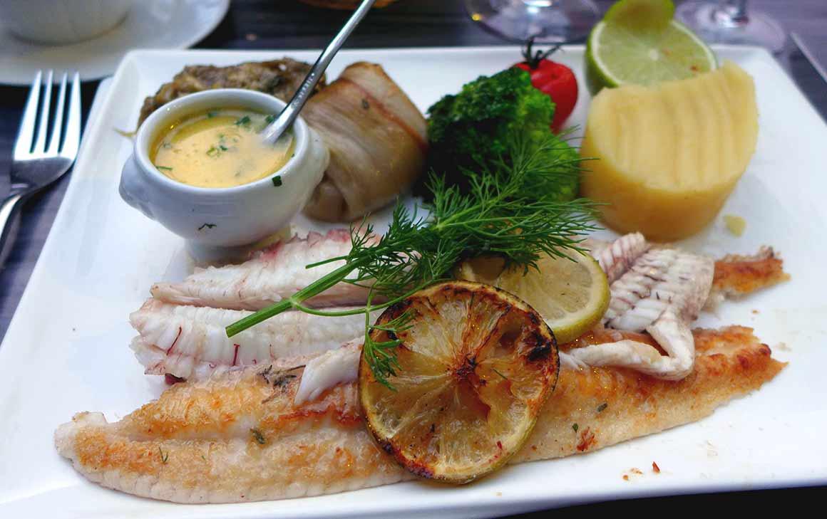 Restaurant Le Gourmet : Sole façon meunière purée