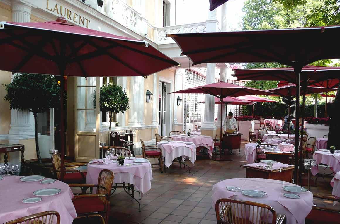 Restaurant Laurent, La terrasse jardin