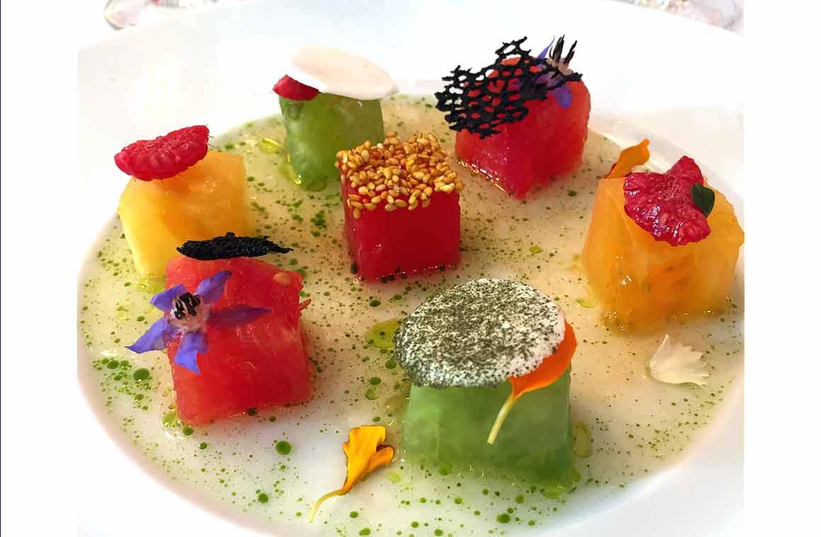 Restaurant Laurent, Fraîcheur de tomates perlées