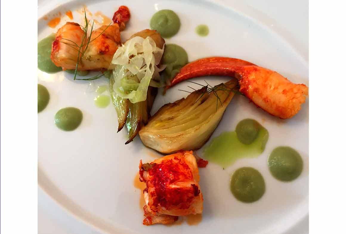 Restaurant Laurent, Homard au beurre coraillé