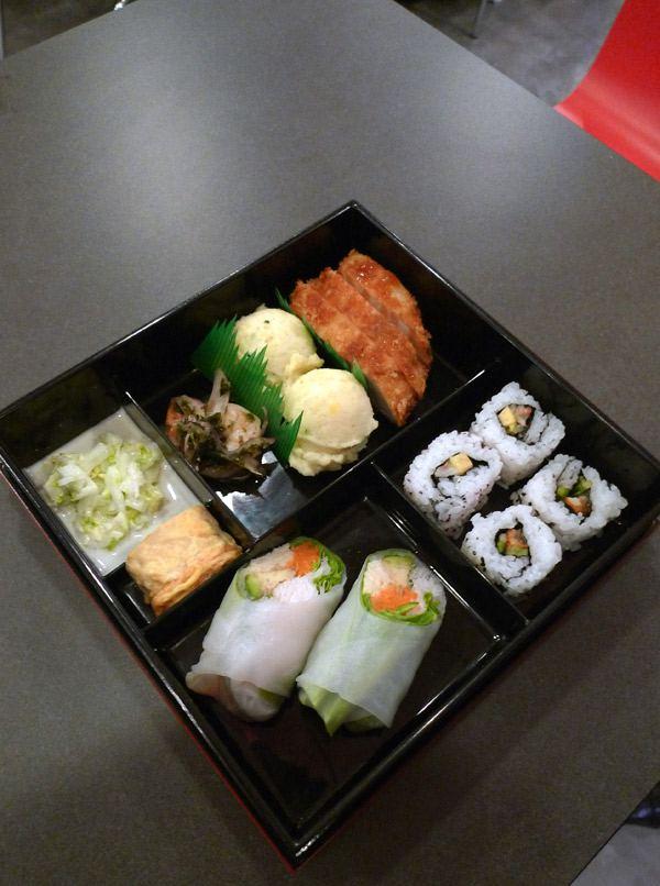 Restaurant Little B, plateau japonais OBento