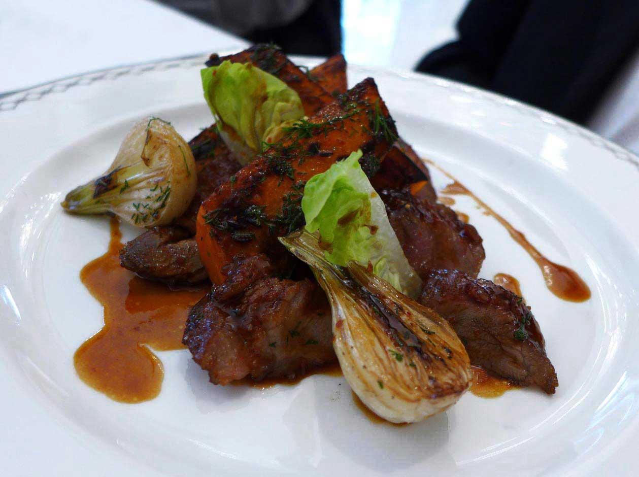 Restaurant Le Lobby, pluma ibérique