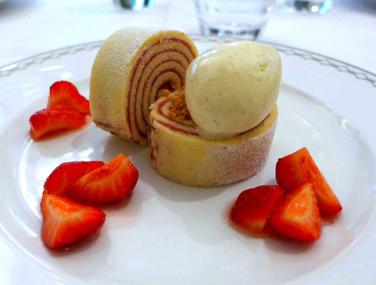 Restaurant Le Lobby, gâteau de crêpes