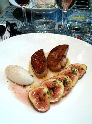 Bistrot Le Mauzac,escalope de foie gras de canard poêlée