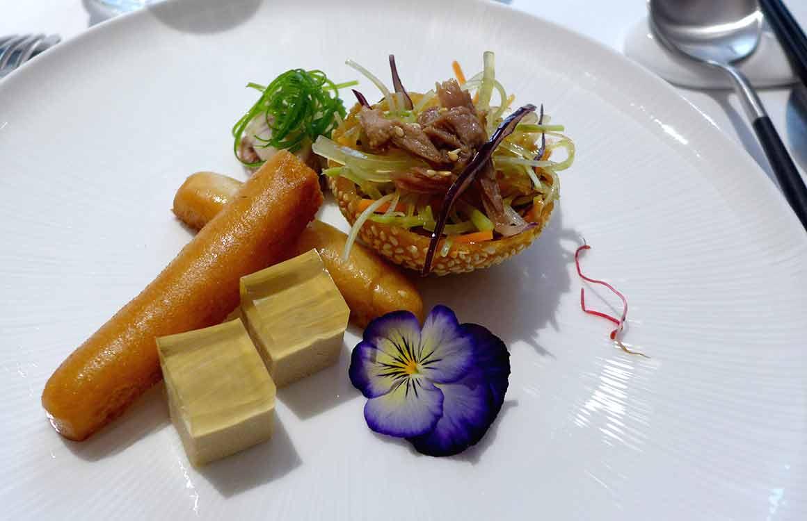 Restaurant Imperial Treasure trio de bouchées