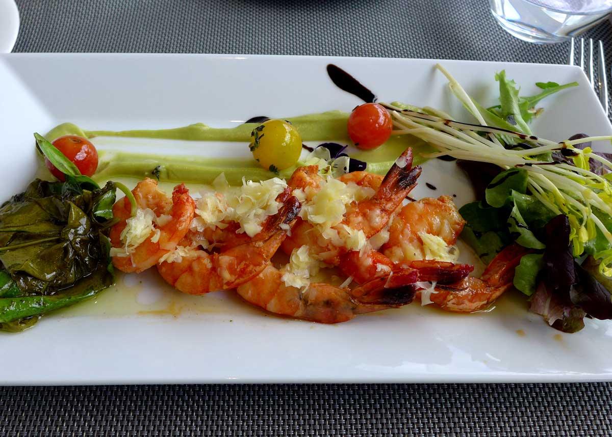 Restaurant Le Miroir : Salade de gambas