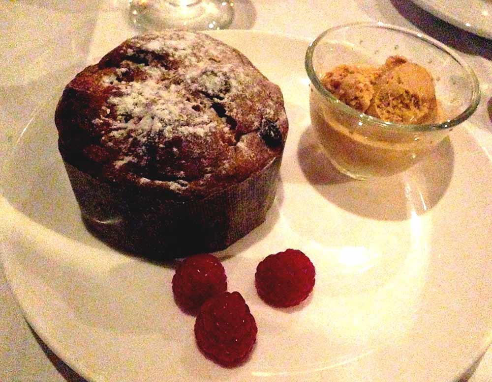 Restaurant Le Monteverdi : Panettone et glace pralinée