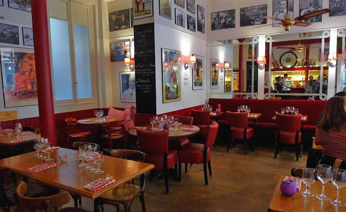 La salle du restaurant Le Montrosier