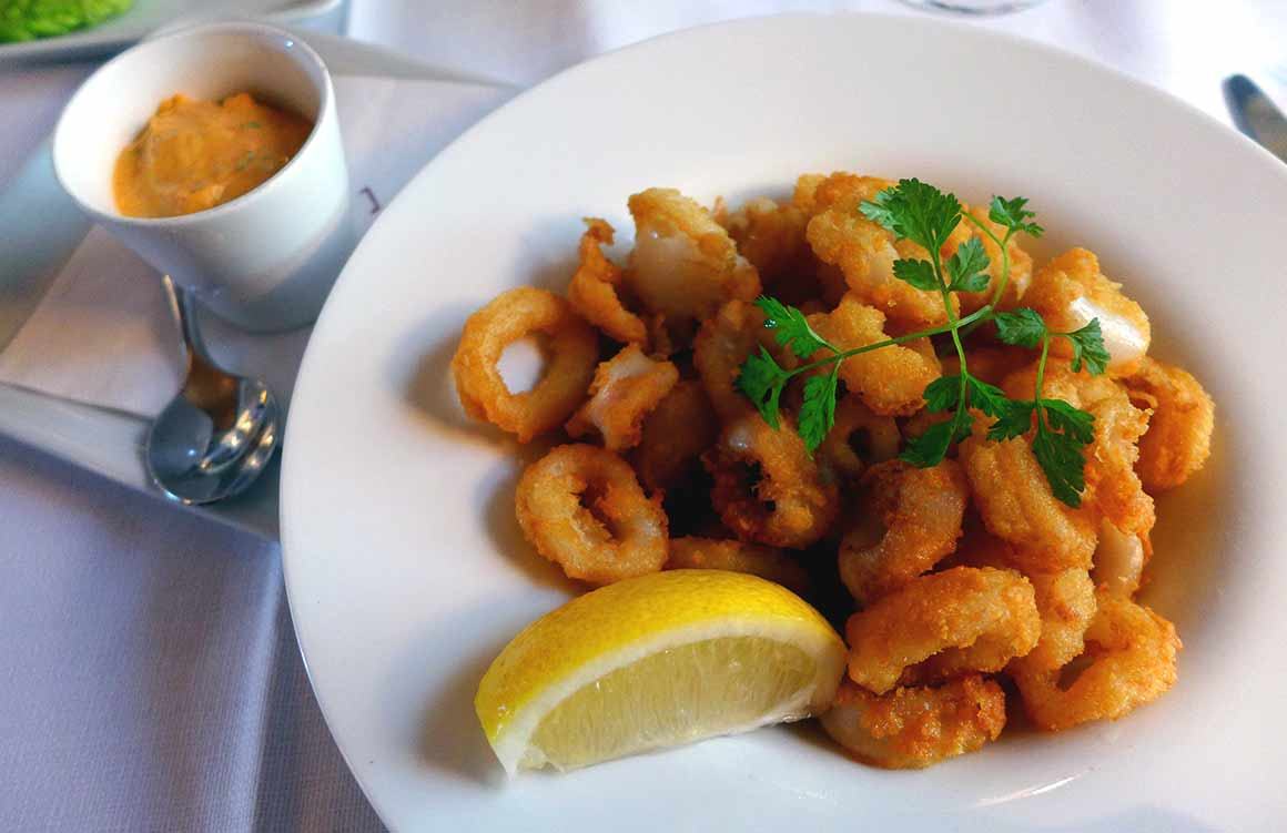 Brasserie Le Murat, Calamars frits creamy spicy