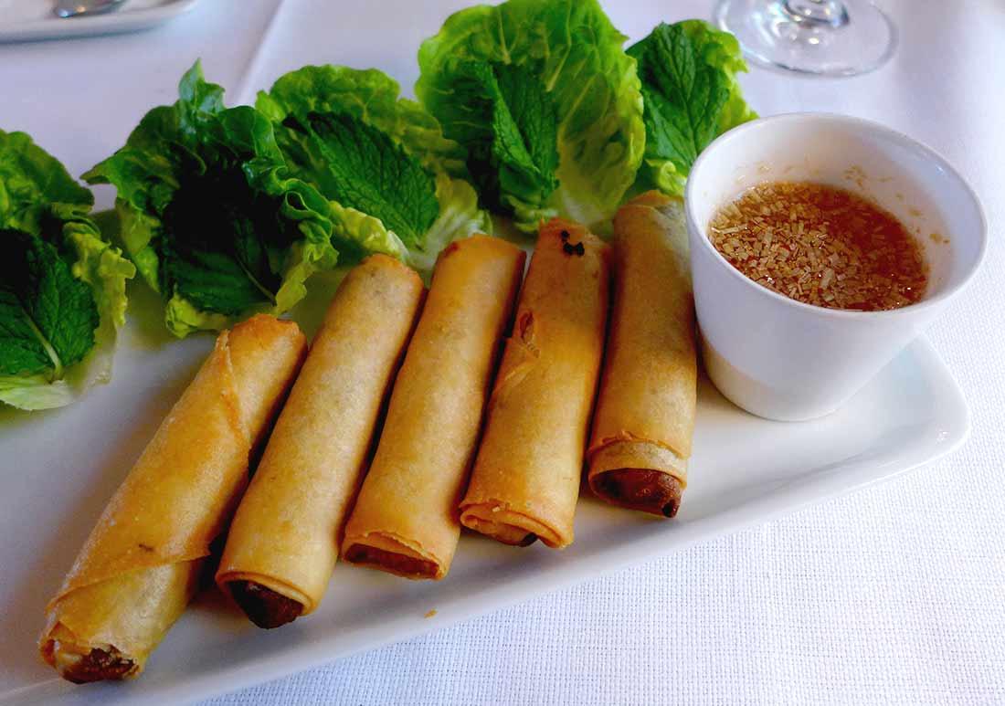 Brasserie Le Murat, Nems poulet basilic thaï
