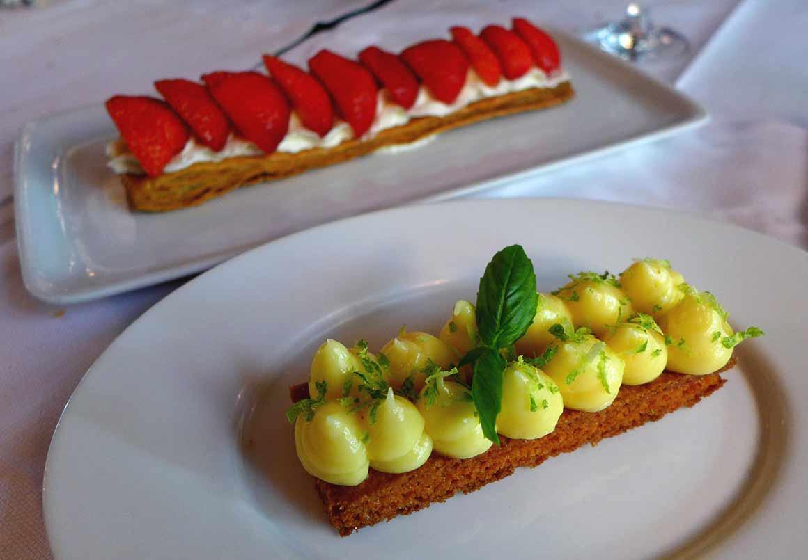 Brasserie Le Murat, Feuilleté aux fraises