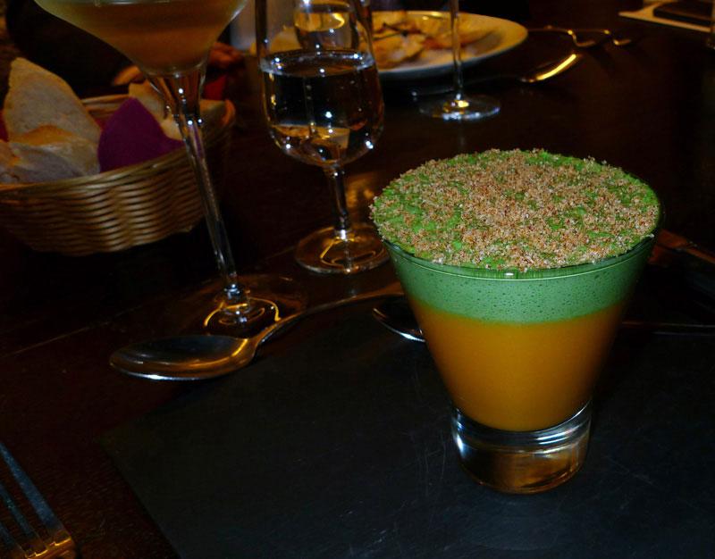 Le Musée du Vin, Le capuccino de carottes et persil
