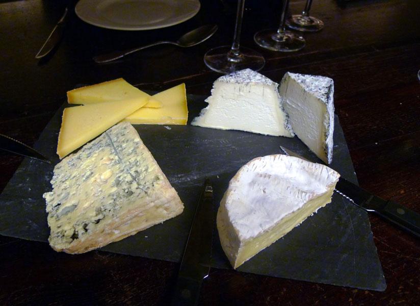 Le Musée du Vin, Le choix de fromages