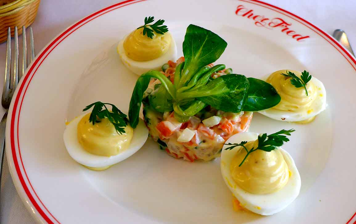 Bistrot Chez Fred, Oeufs bio mayonnaise