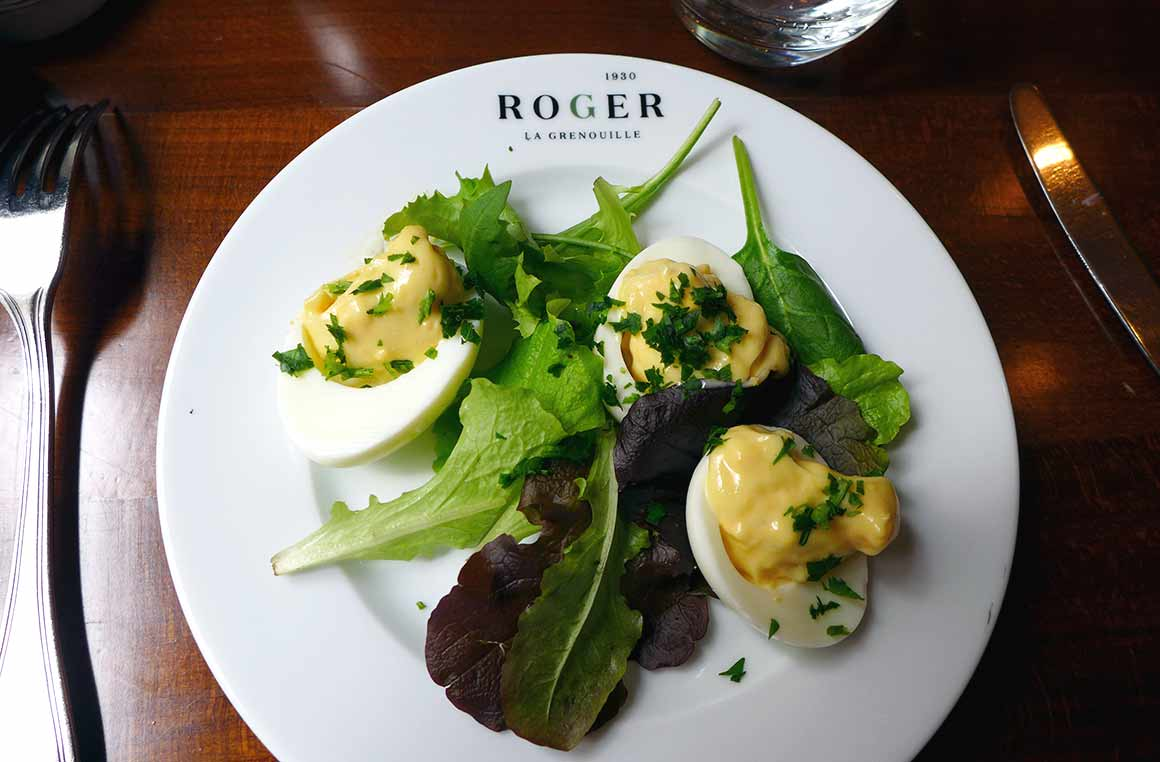 Restaurant Roger la Grenouille, œufs mayonnaise