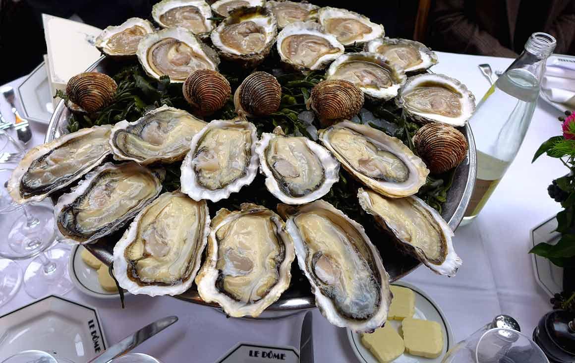 Restaurant le Dôme, Les huîtres