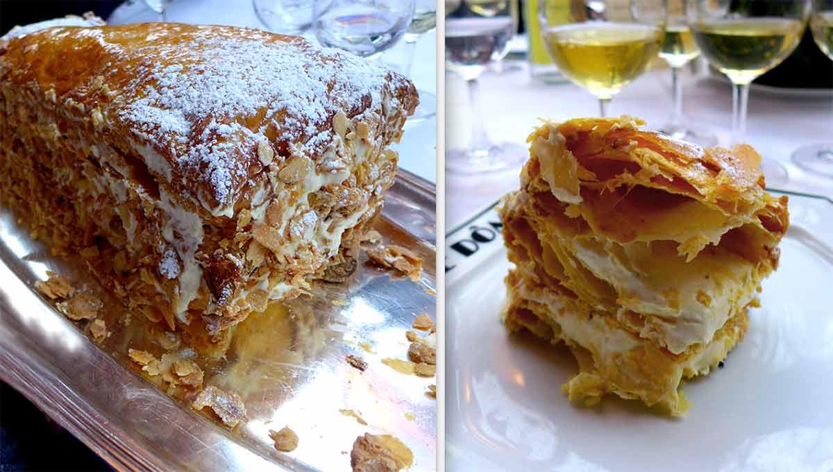 Restaurant le Dôme, Millefeuille au rhum vanille