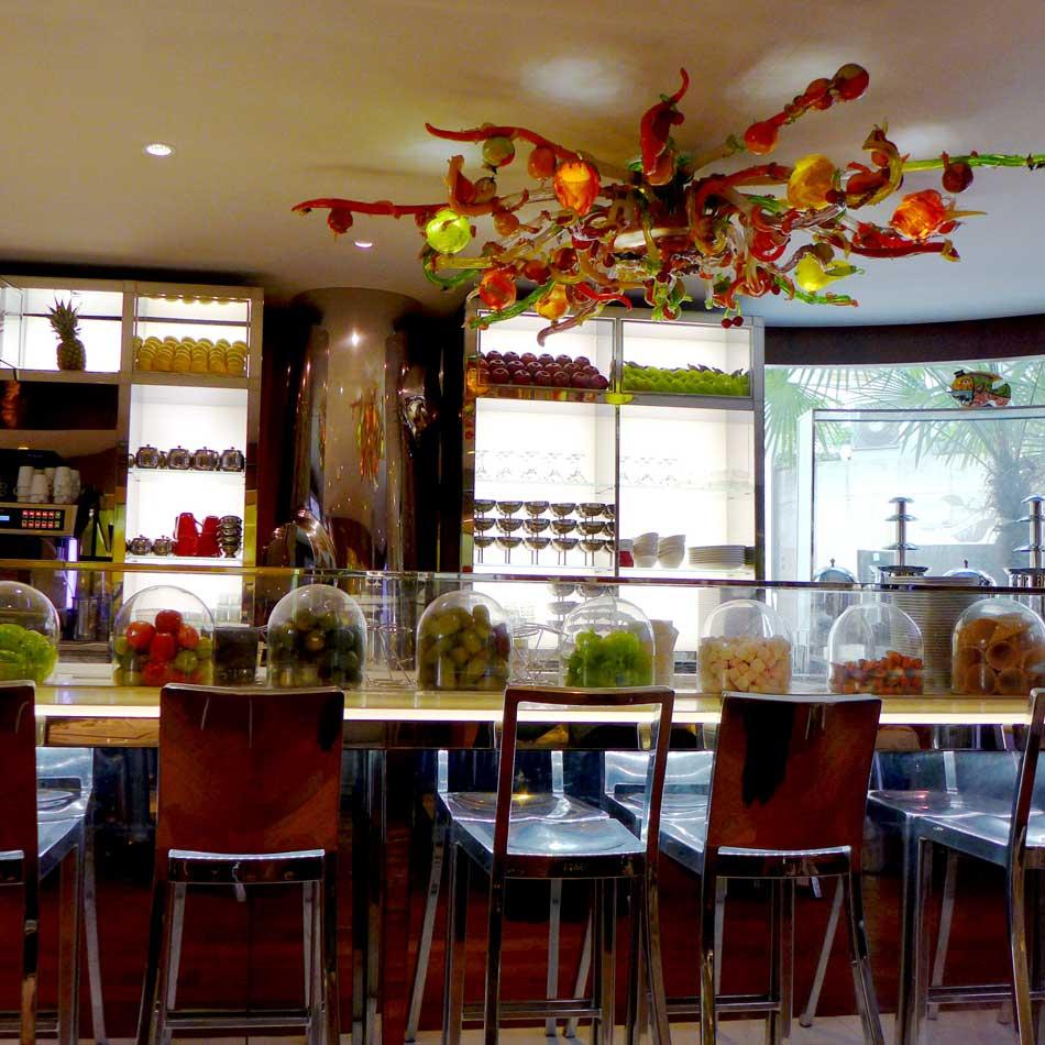 La salle du restaurant Le Paradis du Fruit