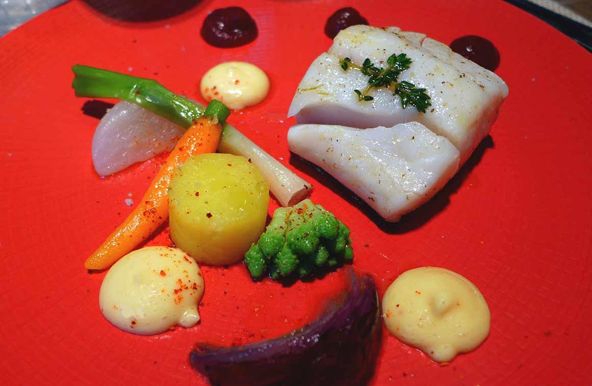 Pastis Henri Bardouin : Aïoli de lieu jaune, petits légumes