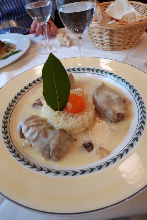 Bistrot Le Petit Rétro, La blanquette de veau à l'ancienne riz basmati