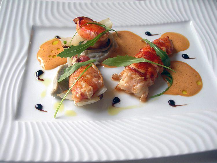 Restaurant Poulpry, Homard cuit à l'étouffée