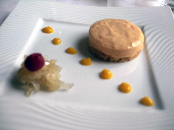 Restaurant Poulpry, Tartelette à l'orange et confit de fenouil