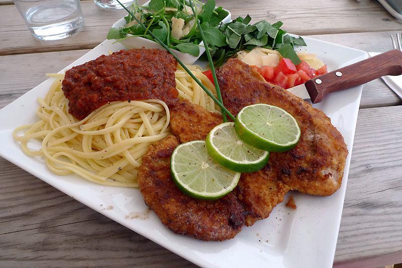 Restaurant Le Récif : L'escalope milanaise