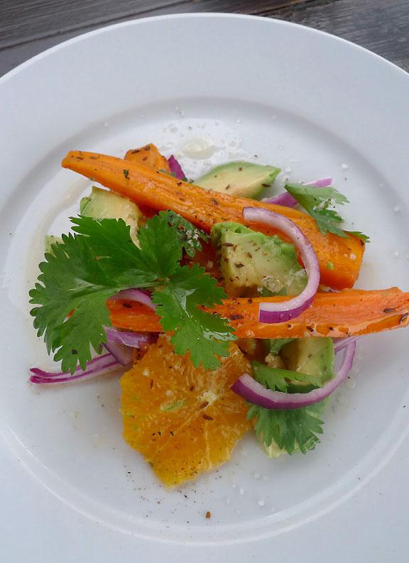 Restaurant Le Récif : Salade de carottes avec avocat et agrume