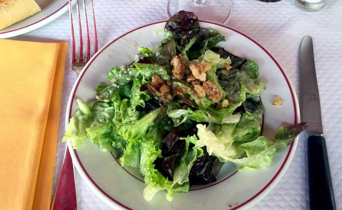 Restaurant Le Relais de Venise, Salade aux noix