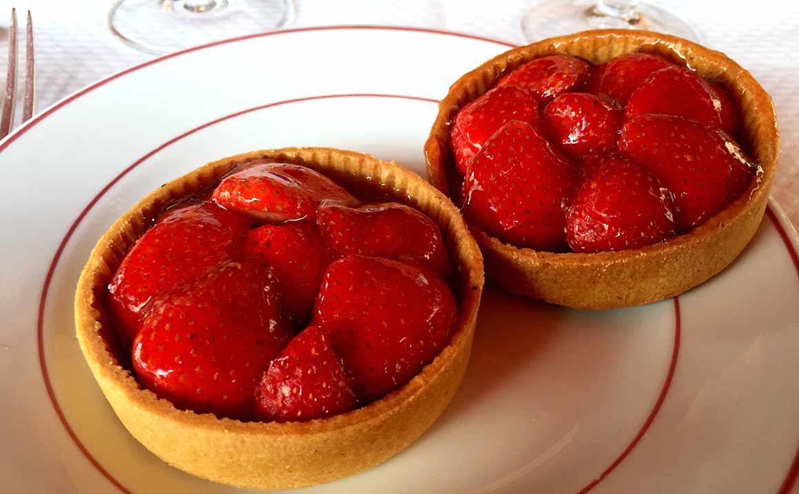 Restaurant Le Relais de Venise, Tartelettes aux fraises